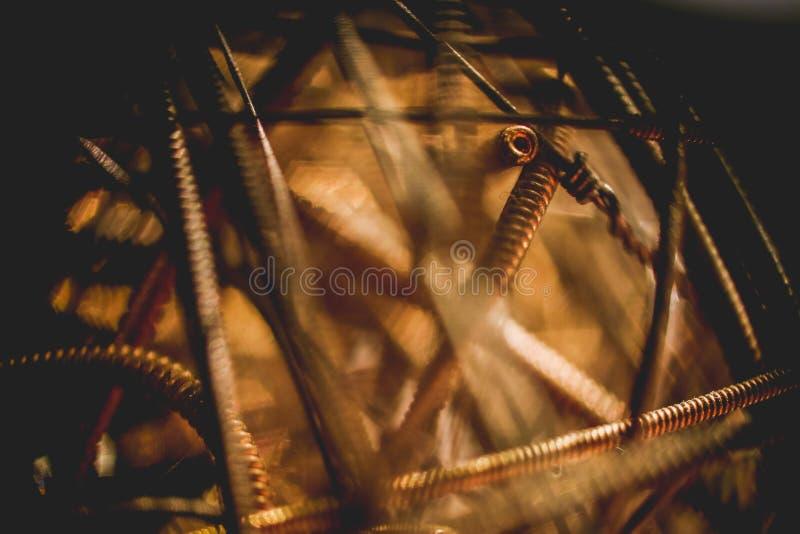 textura de las secuencias de la guitarra y fondo limpio imagen de archivo