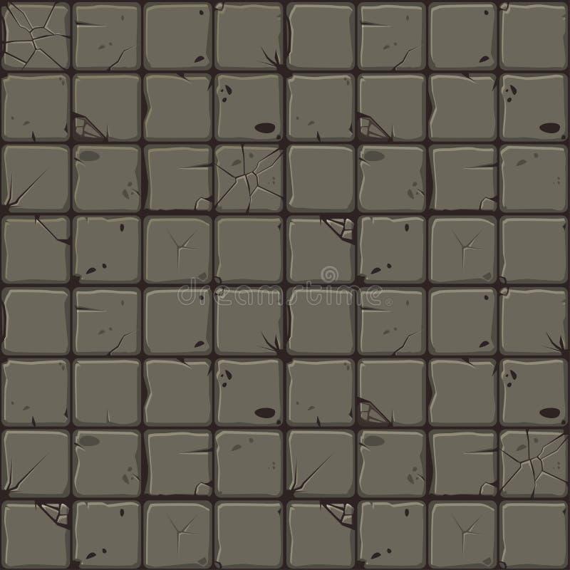 Textura de las tejas de piedra, pared de piedra del fondo inconsútil Ejemplo del vector para la interfaz de usuario del elemento  ilustración del vector