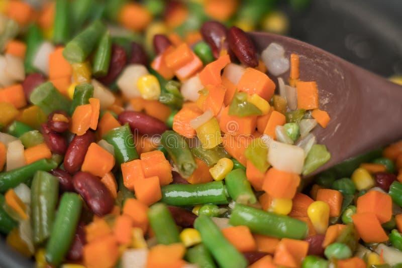 Textura de las verduras deliciosas del sofrito fotos de archivo libres de regalías