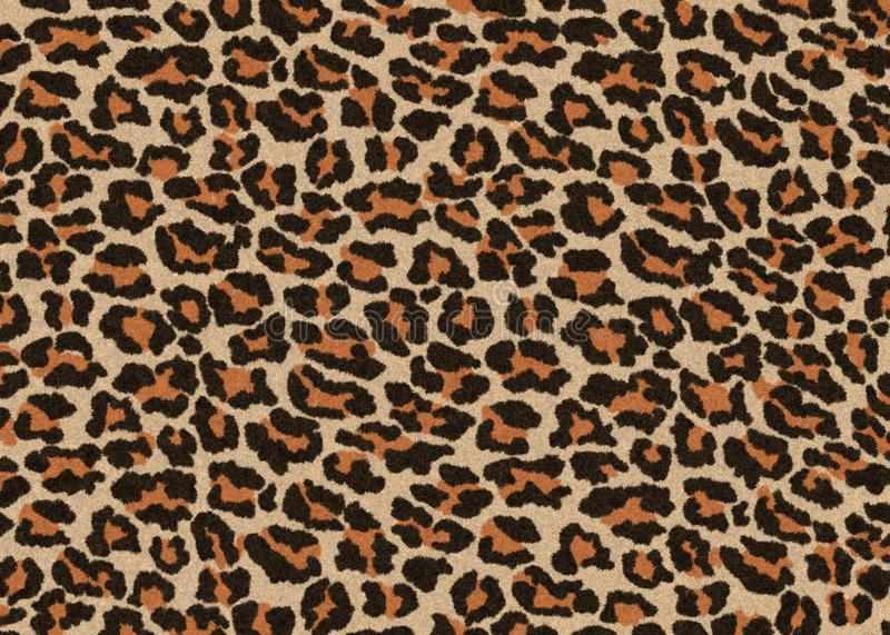 Textura de leopardo, moqueta sin fisuras de fondo jaguar, color marrón y naranja, lucir liso, suave y suave libre illustration