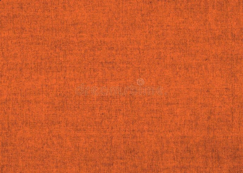 Textura de linho alaranjada brilhante ilustração do vetor