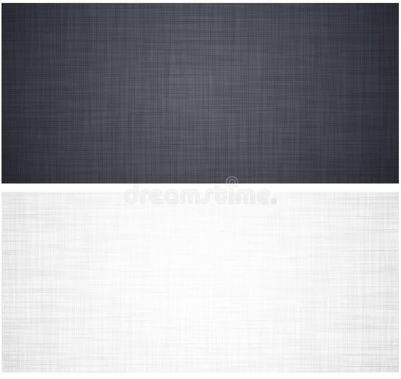 Textura de linho branca e cinzenta ilustração do vetor