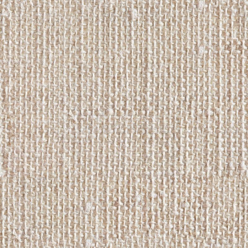 Textura de linho natural clara para o fundo Textura quadrada sem emenda imagem de stock