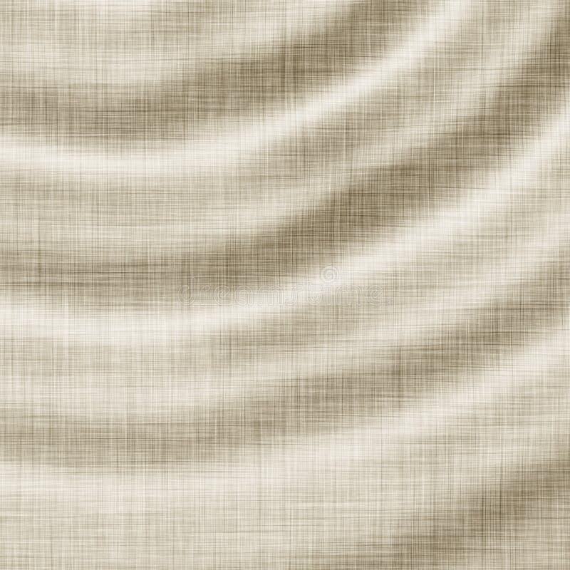 Textura de linho ondulada ilustração do vetor