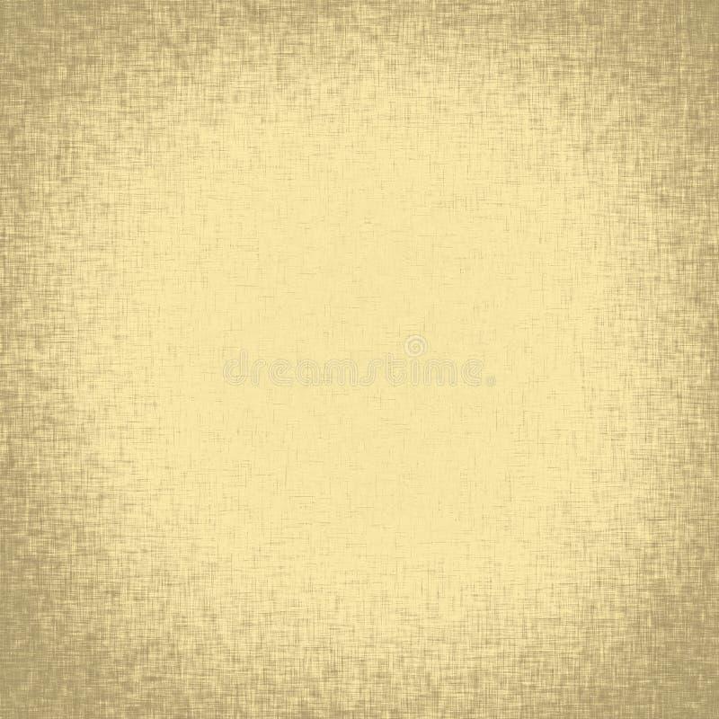 Textura de linho velha da tela com vinheta ilustração stock