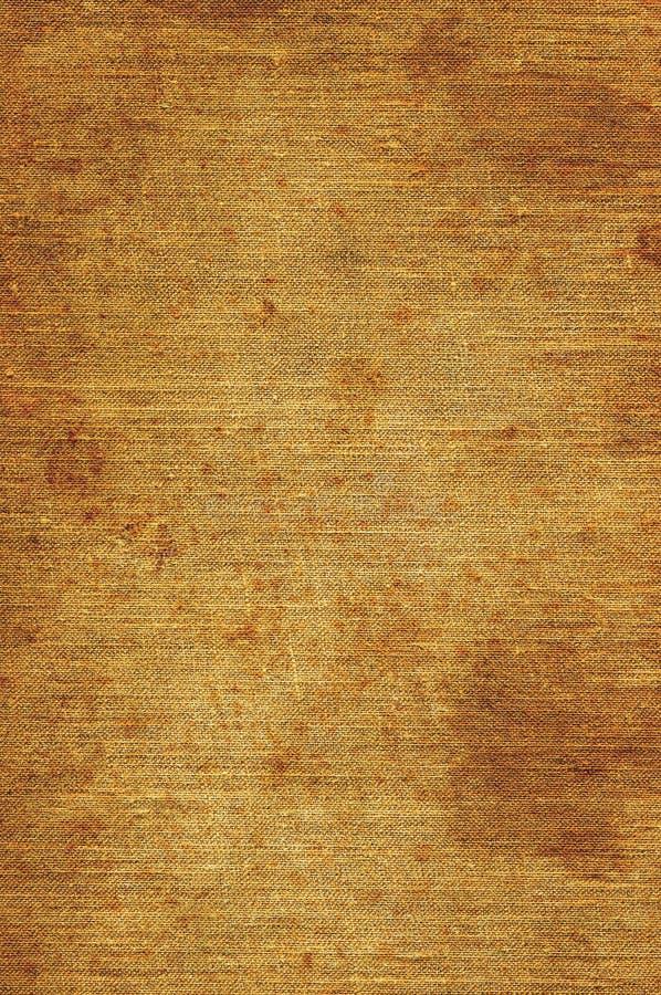 Textura de lino beige natural de Brown, primer macro vertical envejecido viejo detallado del Grunge, Rusty Stained Rustic Grungy  imagenes de archivo