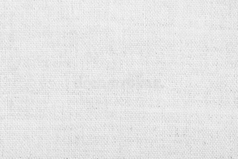 Textura de lino blanca para el fondo fotografía de archivo