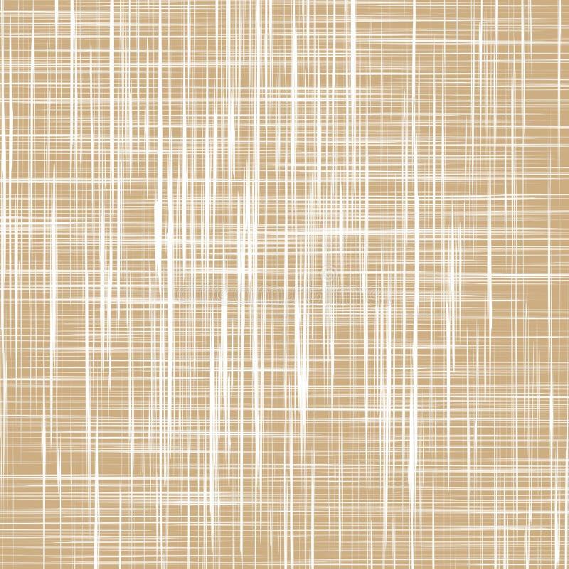 Textura de lino de la tela ilustración del vector