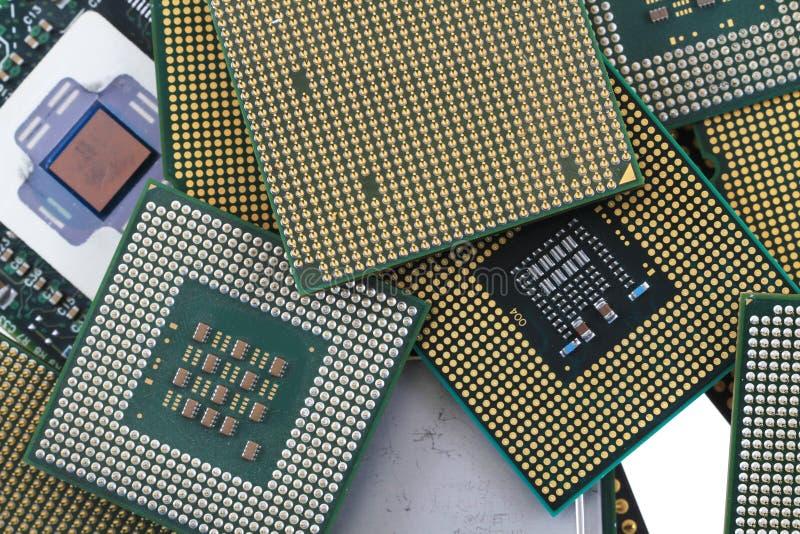 textura de los chips de ordenador fotografía de archivo libre de regalías
