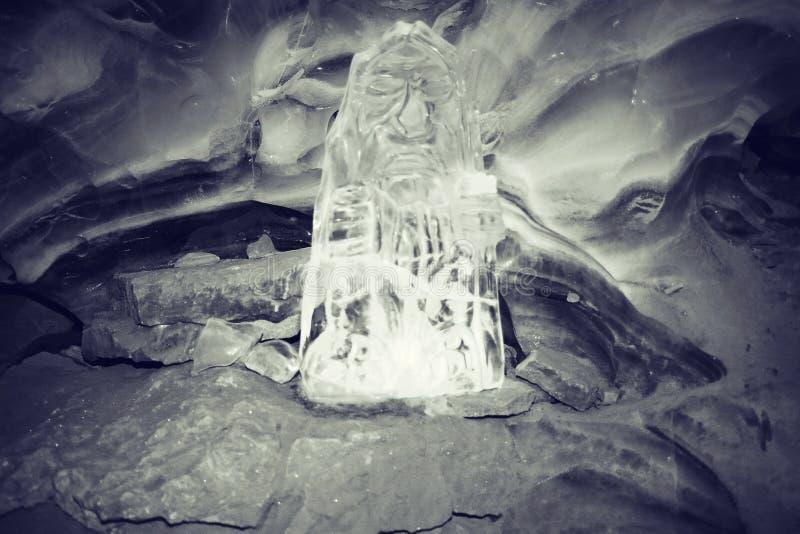 Textura de los cristales de la helada fotografía de archivo libre de regalías