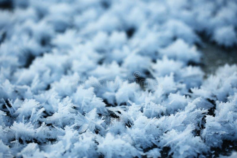Textura de los cristales de la helada foto de archivo