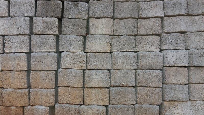 Textura de los ladrillos del cemento que entrelaza fotografía de archivo libre de regalías