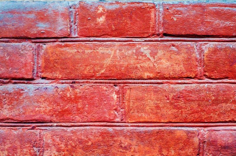 Textura de los ladrillos rojos Fondo para el diseño Viejo brickw horizontal fotos de archivo libres de regalías