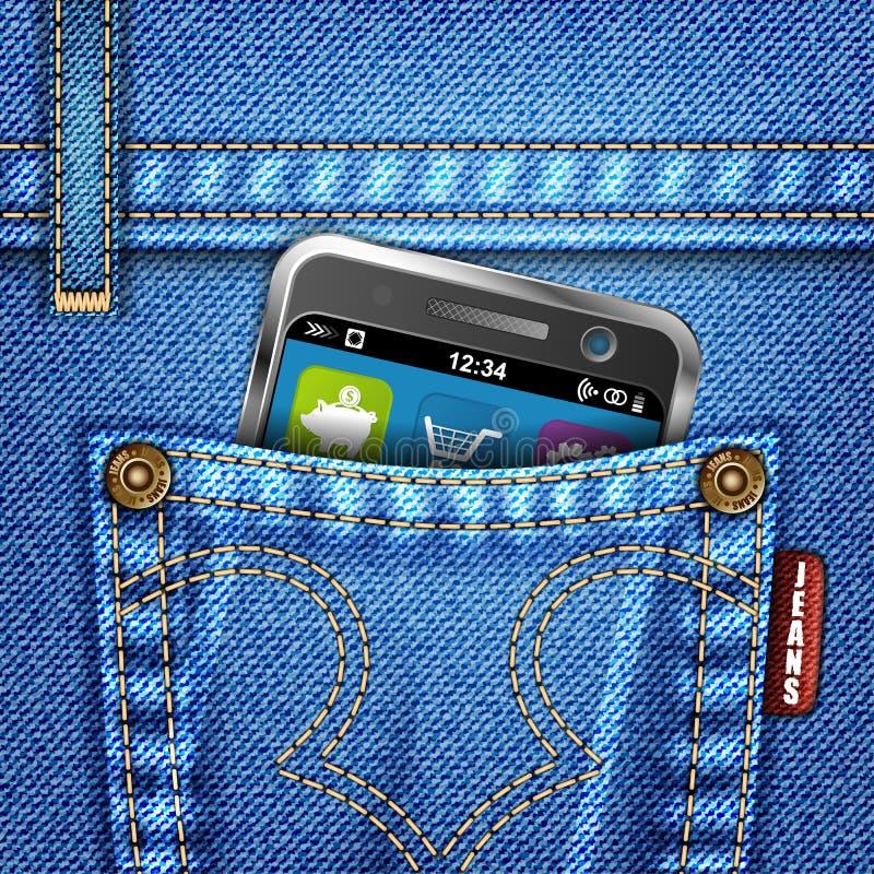 Download Textura De Los Pantalones Vaqueros Ilustración del Vector - Imagen: 21948110