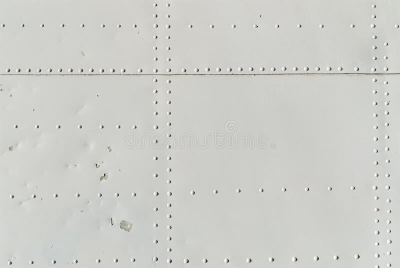Textura de los remaches de la aviación imagen de archivo