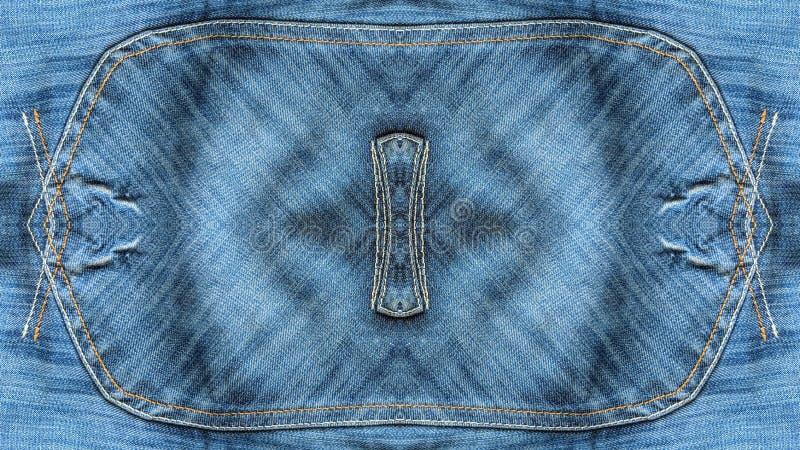 Textura de los tejanos del rectángulo libre illustration