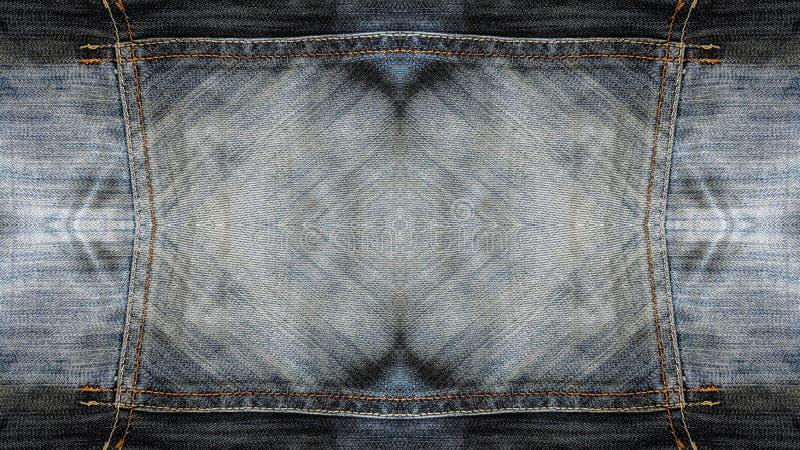 Textura de los vaqueros del rectángulo stock de ilustración