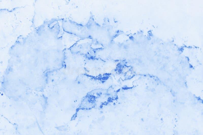Textura de mármol azul en modelo natural con la alta resolución Piso azul de la piedra de la teja ilustración del vector