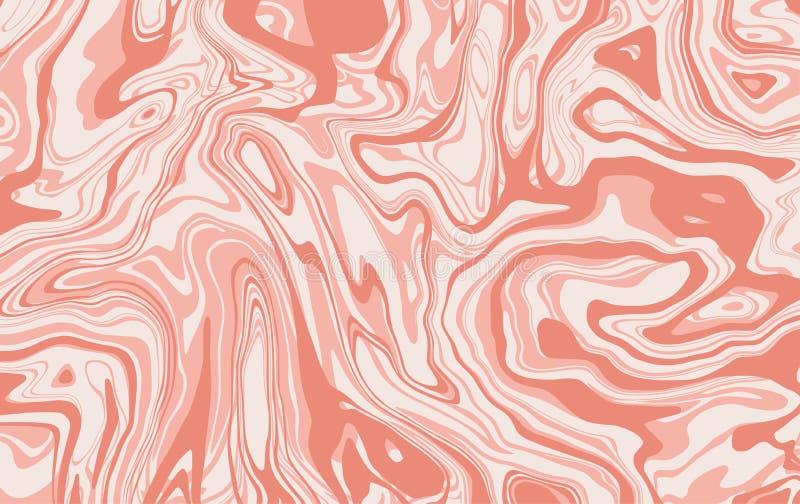 Textura de mármol Chapoteo líquido dinámico en color rosa claro Líneas onduladas Fondo del mármol del vector para su proyecto de  libre illustration