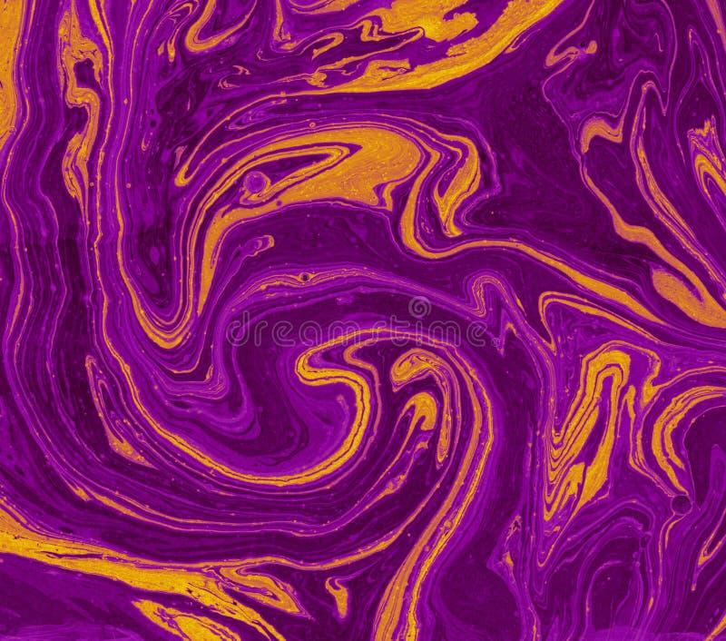 Textura de mármol inusual Ilustraciones abstractas creativas Colores vibrantes imagen de archivo libre de regalías