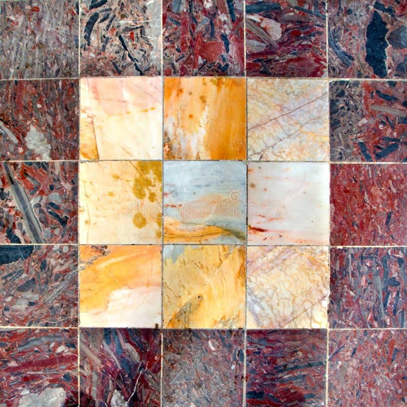 textura de mármol multicolora brillante de las tejas de la decoración del piso imágenes de archivo libres de regalías