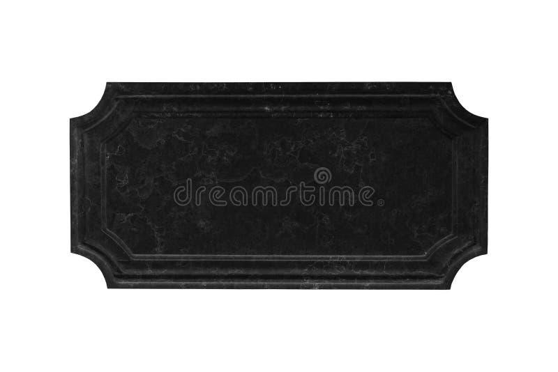 Textura de mármol negra del letrero aislada en blanco imagenes de archivo