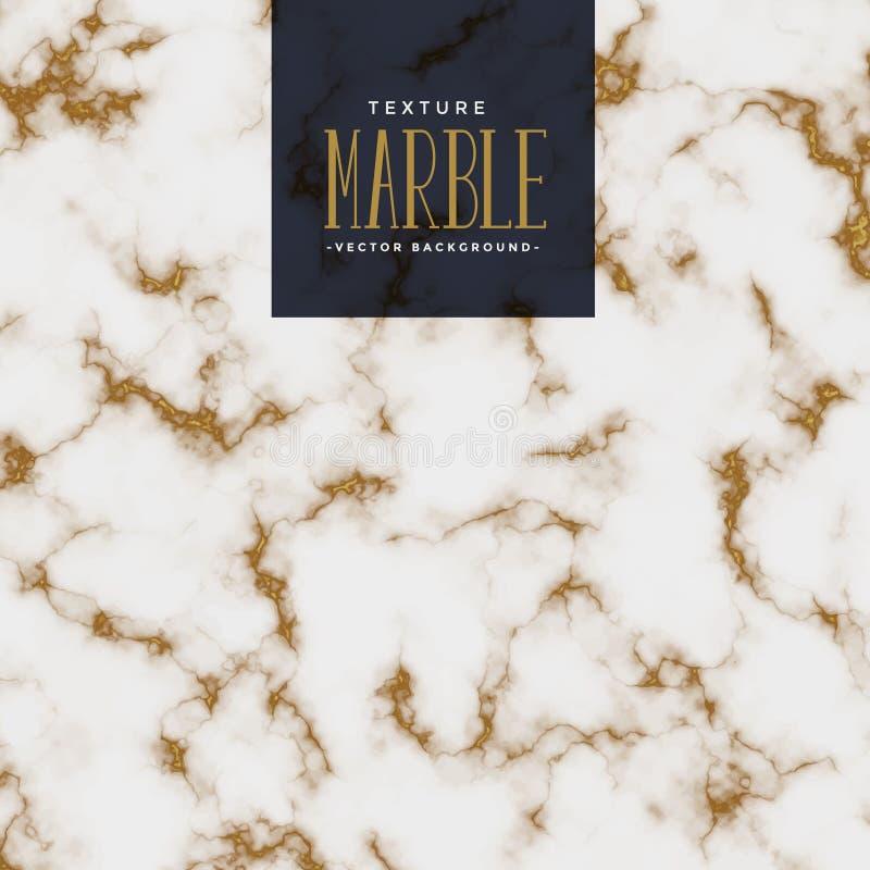 Textura de mármol superior con el modelo de oro stock de ilustración