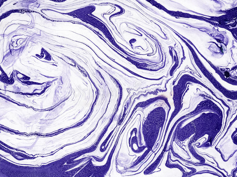 Textura de mármore abstrata tirada mão Feito a mão com pintura líquida ilustração stock
