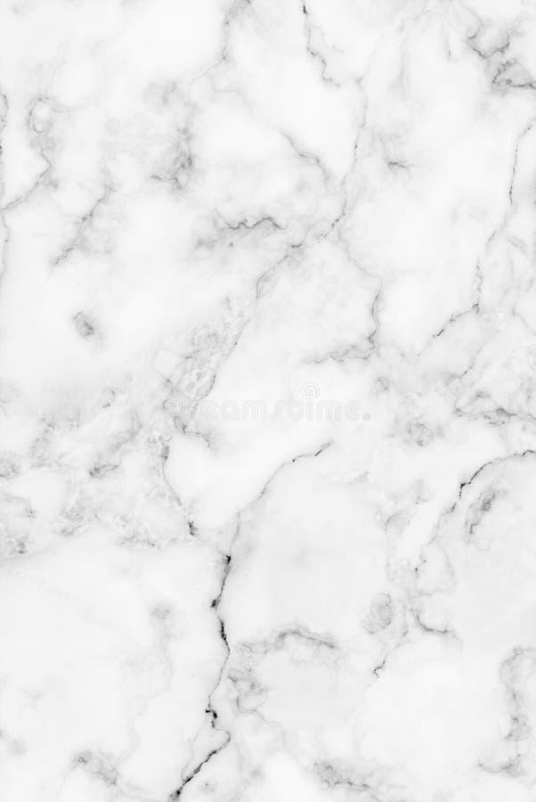 Textura de mármore cinzenta branca com as veias cinzentas suteis foto de stock royalty free