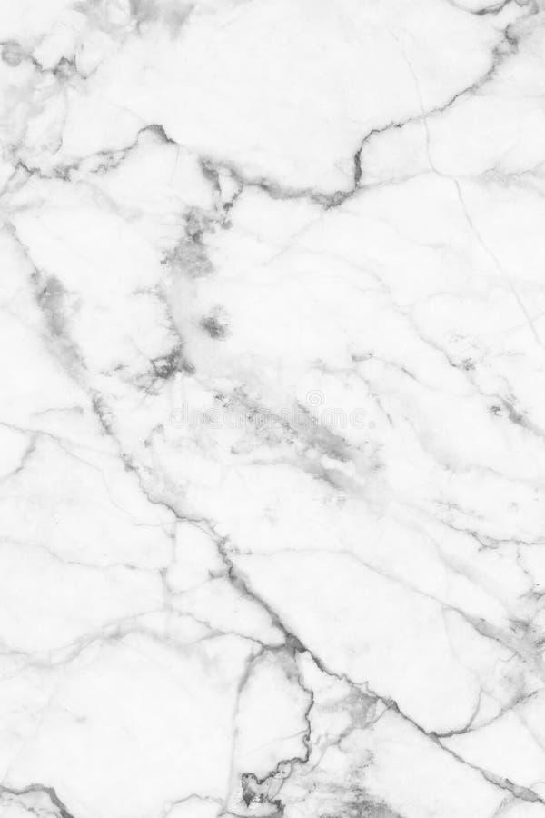Textura de mármore cinzenta branca, estrutura detalhada do mármore em natural modelado para o fundo e projeto imagens de stock royalty free