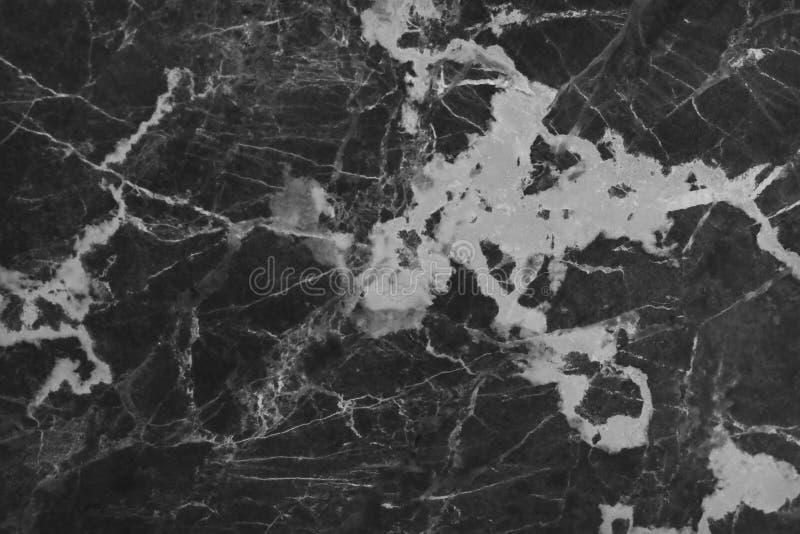 Textura de mármore cinzenta preta no teste padrão natural com alta resolução para o fundo Assoalho de pedra das telhas imagem de stock royalty free