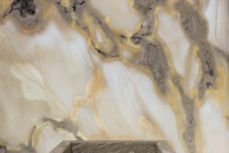 Textura de mármore com ouro e teste padrão natural cinzento para o fundo fotografia de stock