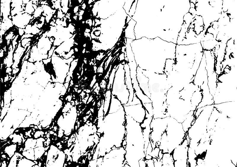 Textura de mármore preta do grunge do vetor da folha de prova ilustração stock