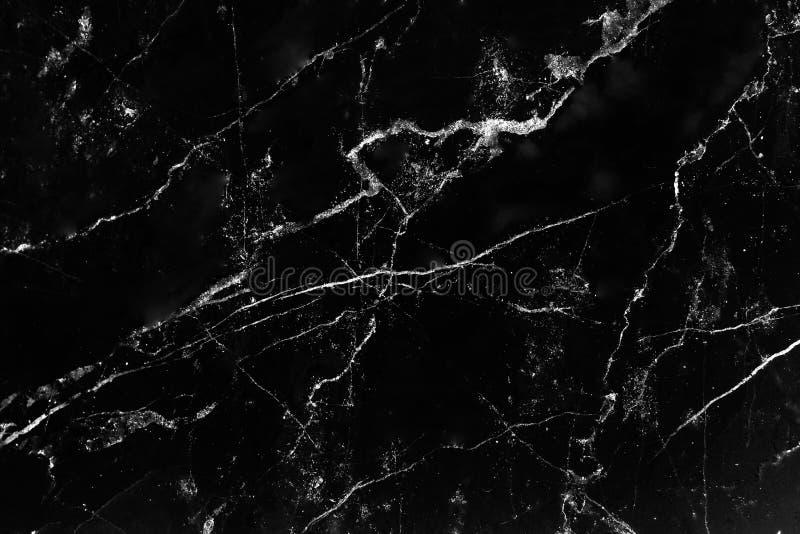 Textura de m?rmol negra con la l?nea blanca natural fondo de los modelos fotografía de archivo libre de regalías