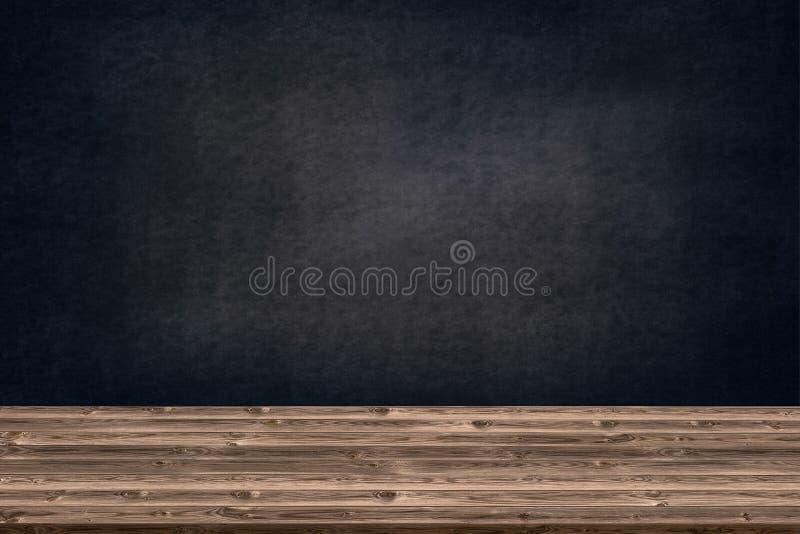 A textura de madeira abstrata e o giz friccionado para fora no quadro-negro, porque o gráfico da tabela adicionam o produto, conc imagens de stock