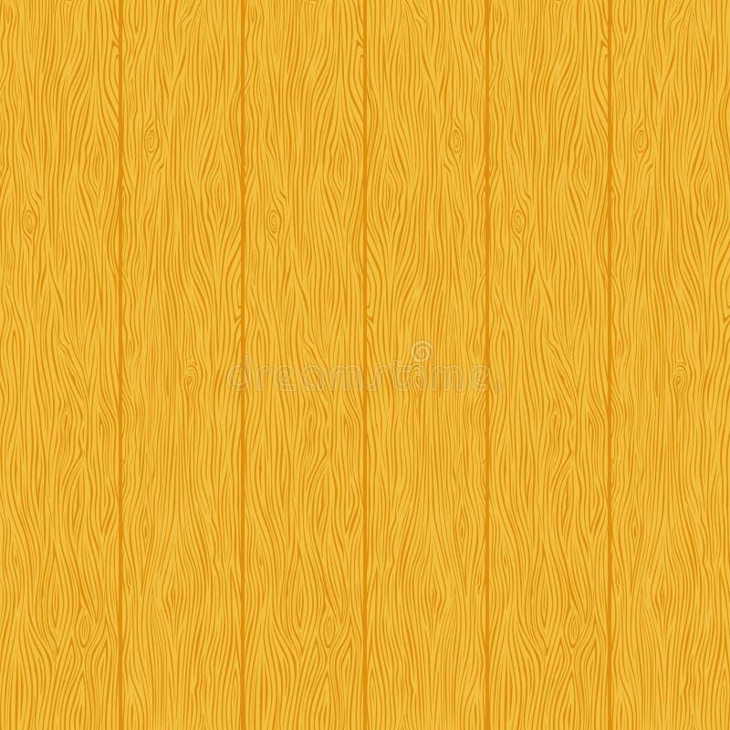Textura de madeira amarela das pranchas ilustração stock