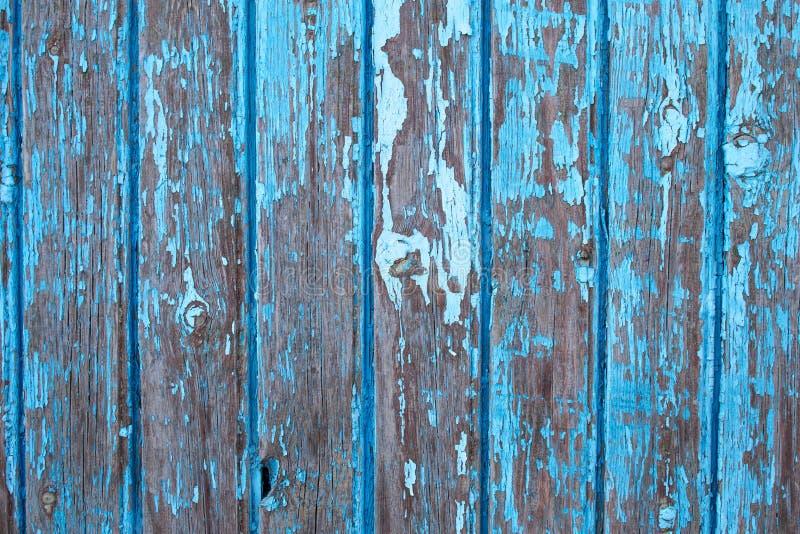 Textura de madeira azul do fundo do vintage connosco e furos de prego Madeira pintada velha fotografia de stock royalty free