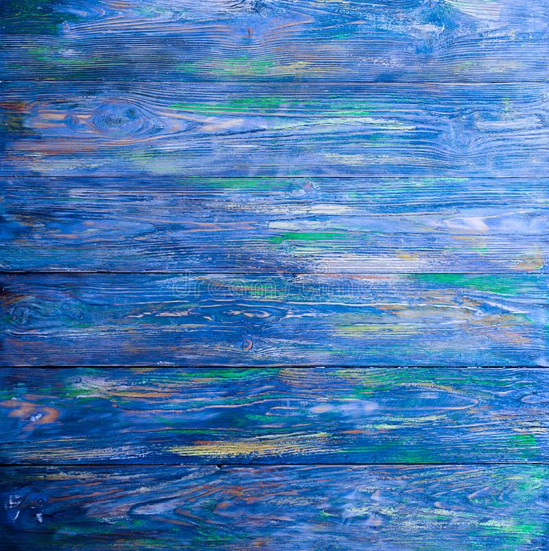 A textura de madeira azul velha com testes padrões naturais Conceito dos fundos - cerca de madeira velha pintada no fundo azul imagem de stock royalty free