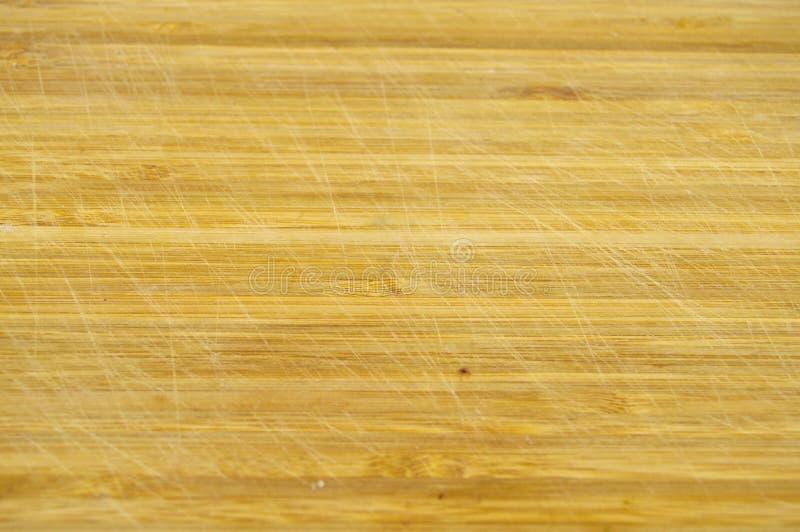 Textura de madeira de bambu de Brown, placa de corte fotografia de stock