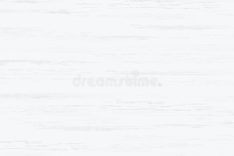 Textura de madeira branca da prancha para o fundo Vetor ilustração royalty free