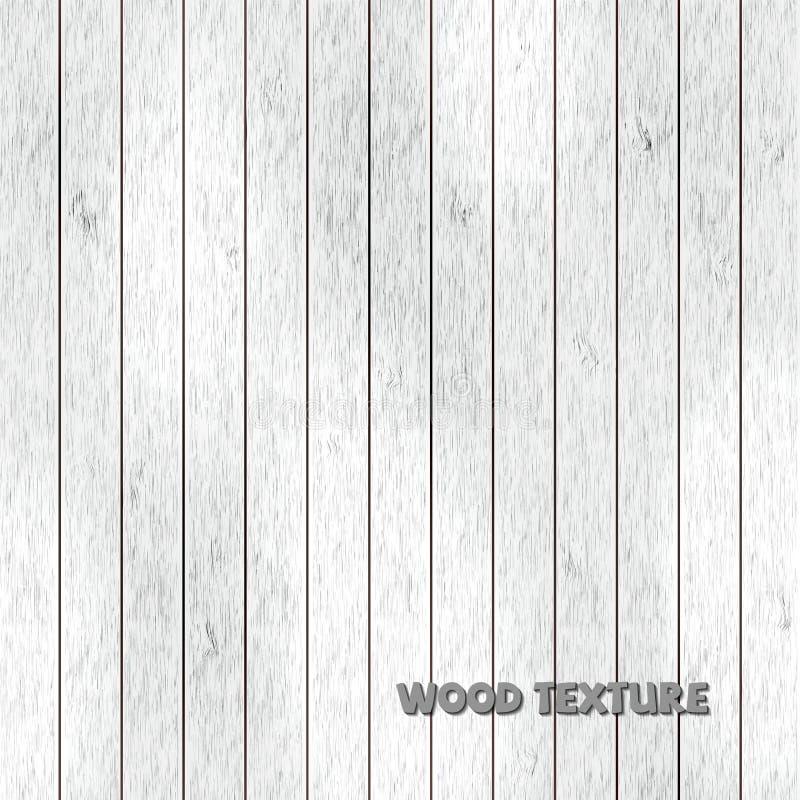 Textura de madeira branca, fundo do vintage ilustração do vetor
