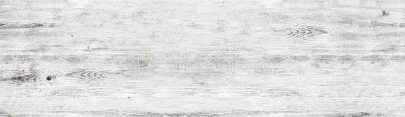 Textura de madeira branca larga - fundo gasto de madeira whitewashed imagens de stock
