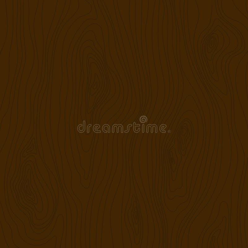 Textura de madeira de Brown Teste padrão de madeira da grão E ilustração royalty free