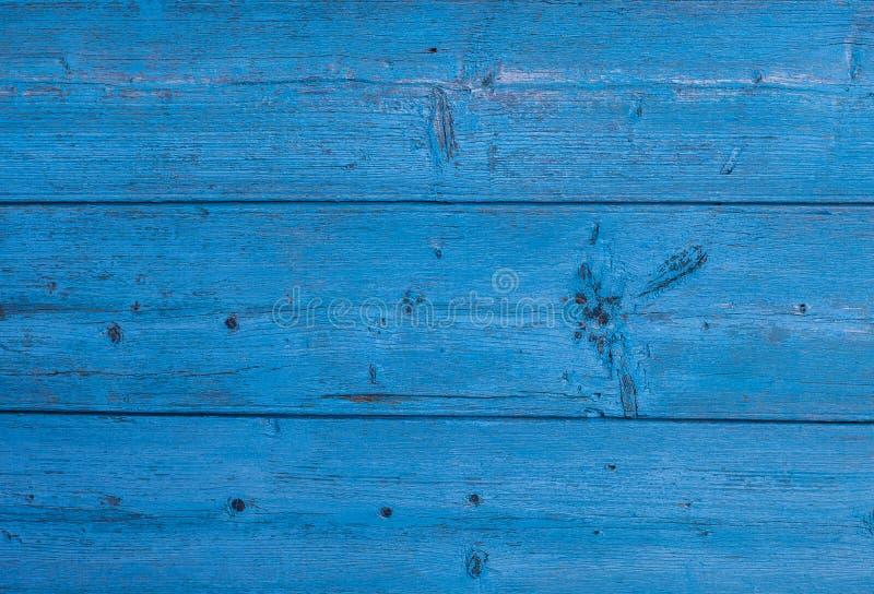 Textura de madeira da cor azul Fundo da madeira pintada fotos de stock