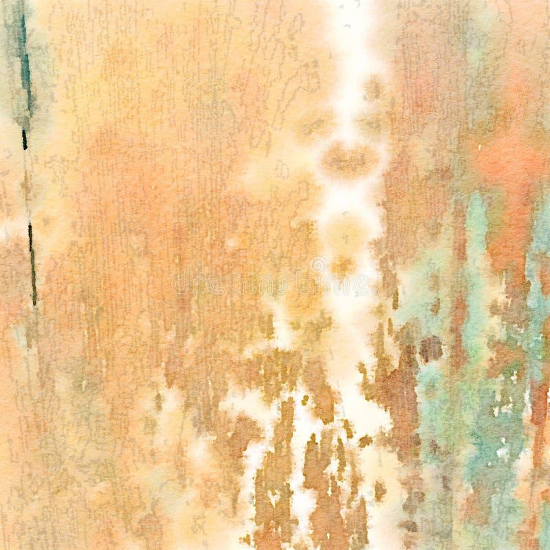 Textura de madeira da grão da cor de água do fundo ilustração stock