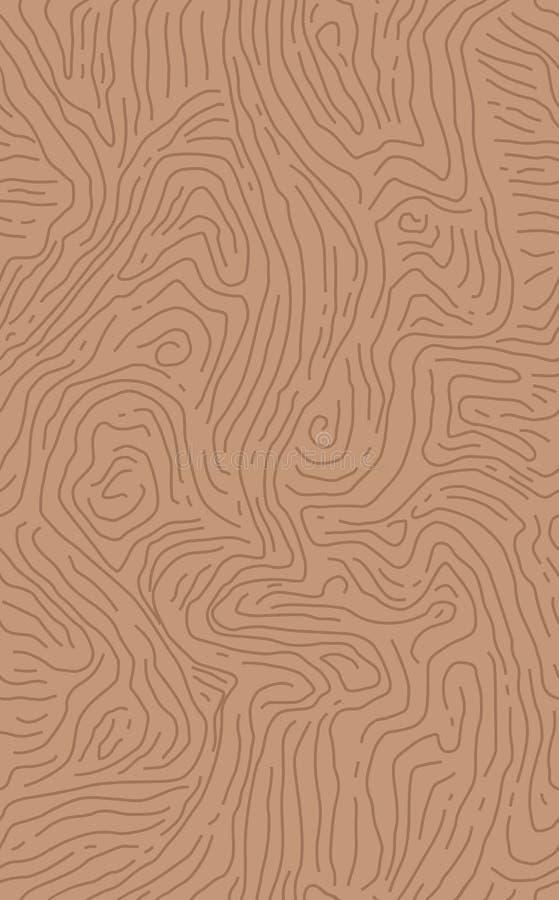 Textura de madeira da grão Teste padrão de madeira sem emenda Linha abstrata fundo Ilustração do vetor ilustração do vetor