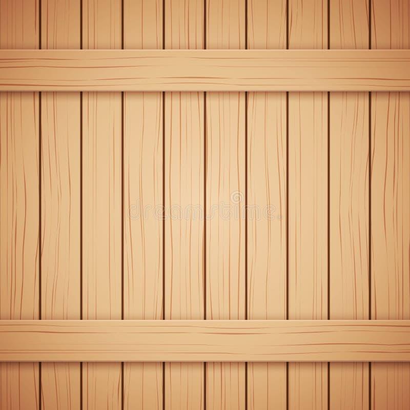 Textura de madeira da prancha do vetor para seu fundo ilustração stock