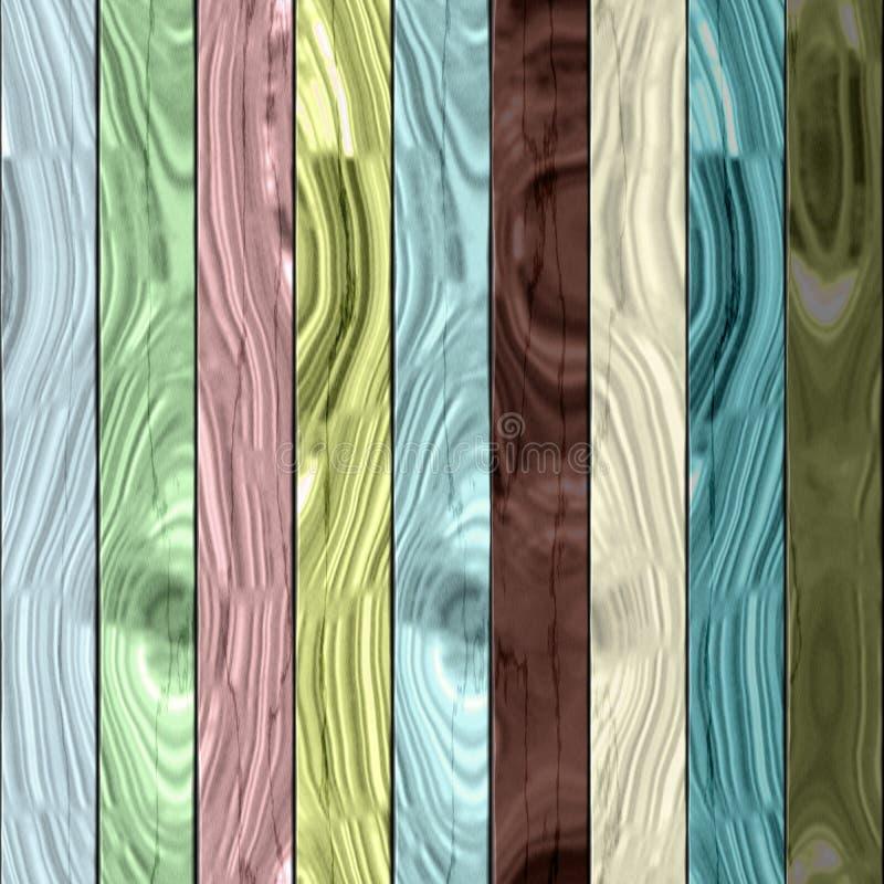 Textura de madeira das pranchas - teste padrão digitalmente rendido colorido sem emenda do fractal ilustração stock