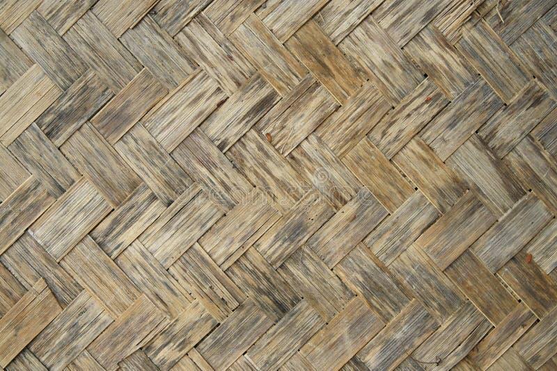 Textura de madeira de bambu velha foto de stock royalty free