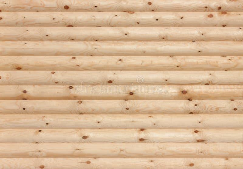 Textura de madeira do fundo da parede dos logs fotos de stock